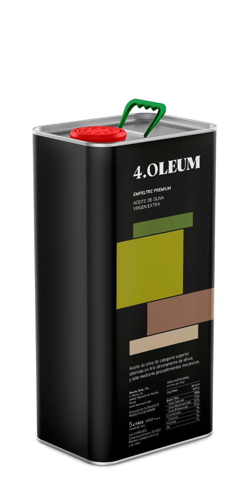 4.Oleum Aceite de Oliva Virgen Extra variedad Empeltre Denominación de Origen Bajo Aragón