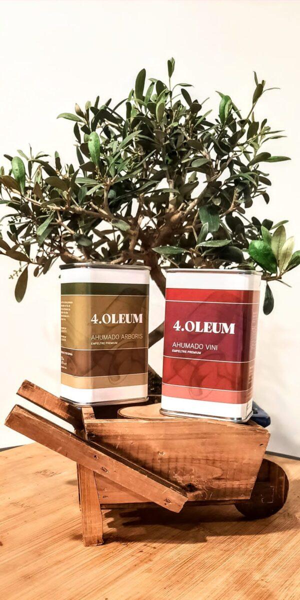 Nueva gama de aceite de oliva premium ahumado: 4.Oleum Arboris y 4.Oleum Vini